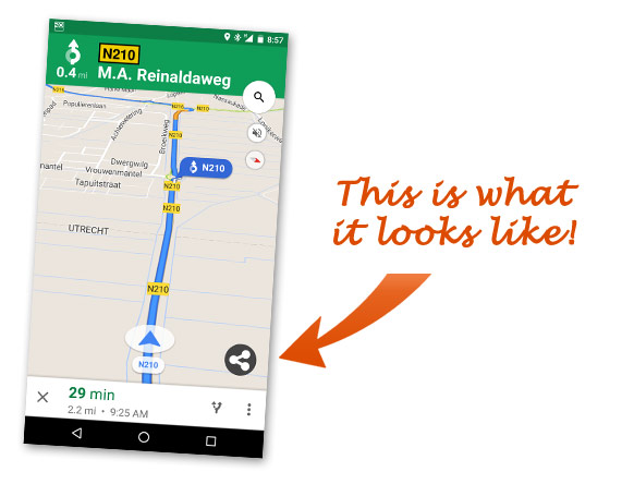 This is what Maps Share ETA for Android looks like!